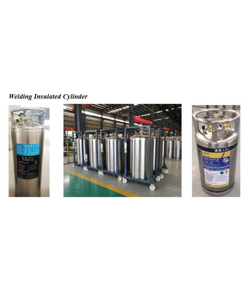 Welding insulated cylinder
